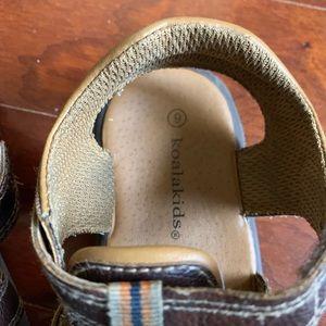 Koala Kids Shoes - Toddler Boy Koala Kids Brown Sandals size 9
